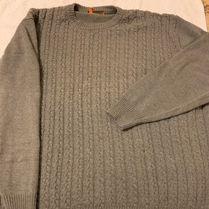 Cable knit crew neck sweater -3XL